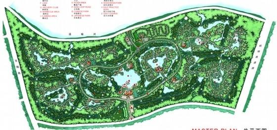 [北京]国际休闲中心景观规划设计总平面图