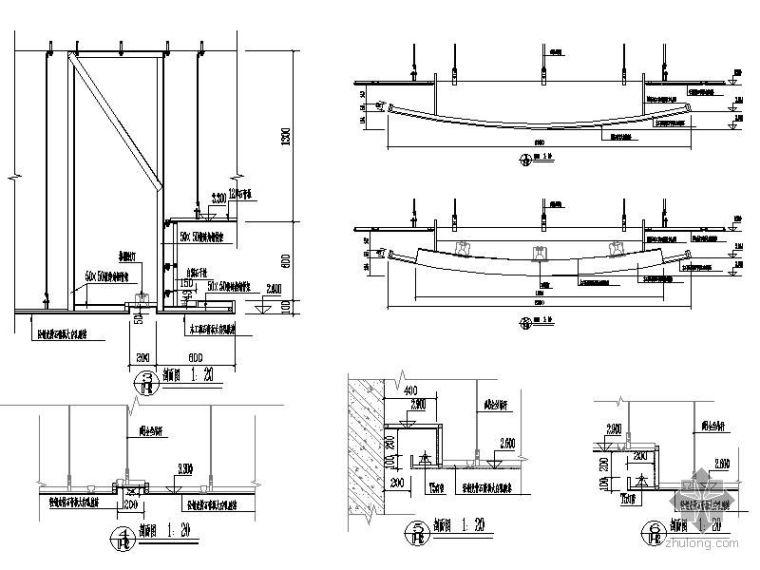 银行室内装饰工程施工图_3