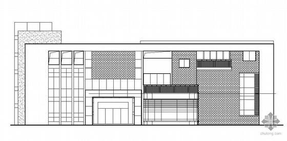 某高級商住區三層會所建筑設計方案