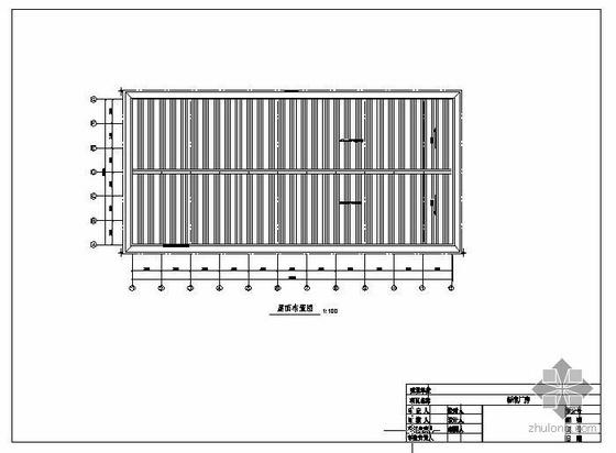 某钢桁架屋盖厂房图
