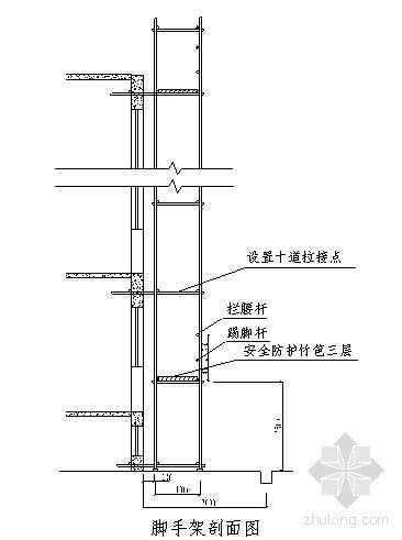 镇江市某四层框架结构工程落地式脚手架施工方案