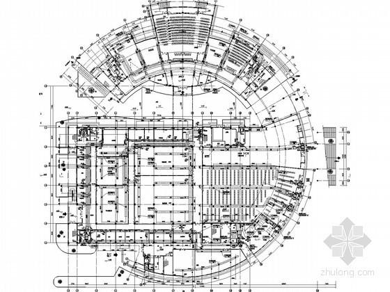 [江苏]大学图书馆空调通风设计施工图(大院设计 含装修图纸)