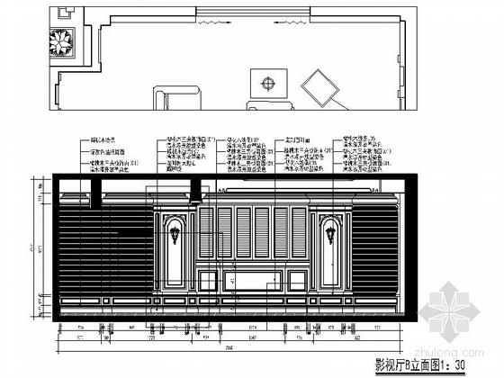[苏州]新古典主义奢华三层别墅室内装修施工图府宁波价格表别墅图片