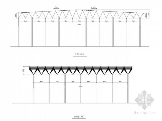 64.8米跨空间网架结构施工图