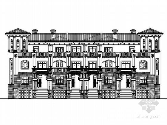 [四川]西班牙风格四错拼接联排别墅单体建筑设计施工图(知名建筑设计院)