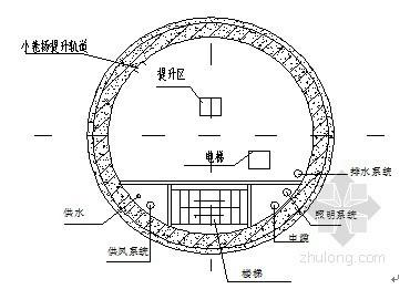 隧道竖井施工方案(输水隧洞)