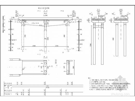 2×13m先张法预应力混凝土空心板桥施工图(桩柱式桥墩 简支结构)