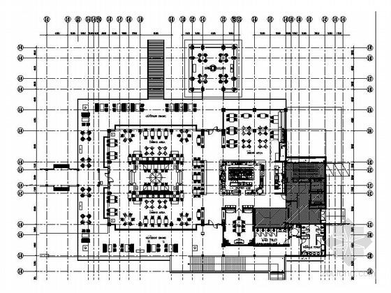 [云南]异域风情特色休闲度假餐厅CAD施工图(含效果图)