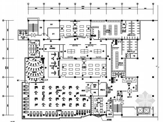 1000平米健身房会所设计施工图
