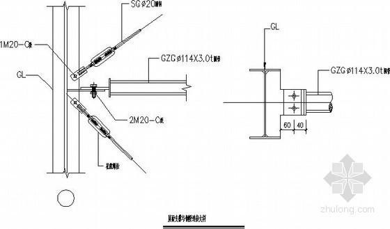 轻钢仓库吊车梁及支撑节点构造详图