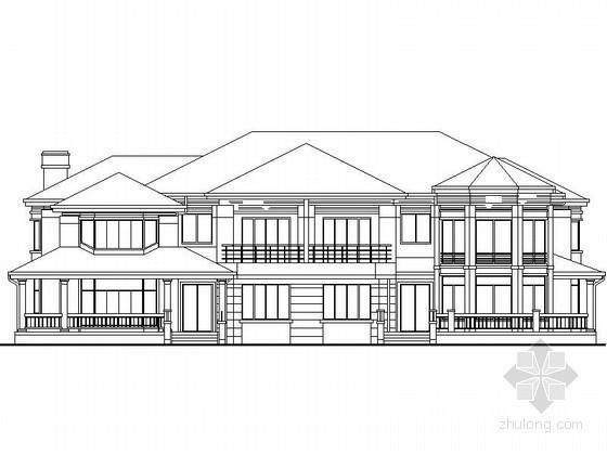 某二层欧式双拼别墅建筑扩初图