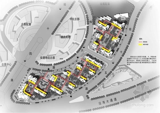 [福建]高层大尺度院落塔式沿海住宅建筑设计方案文本-高层大尺度院落塔式沿海住宅建筑分析图
