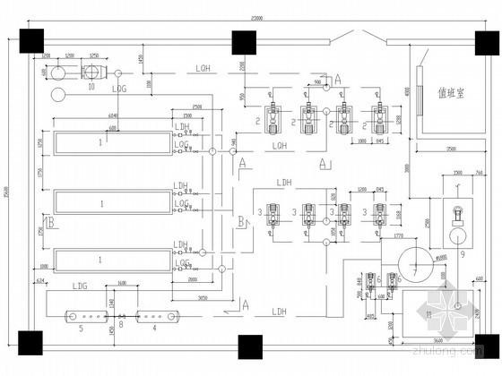 [广州]某办公楼制冷机房设计图纸
