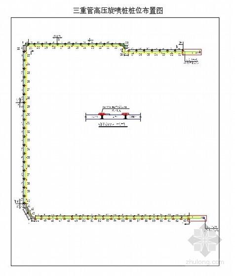 商业大厦深基坑地下连续墙接缝止水施工方案(三管高压旋喷桩)