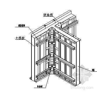 北京某住宅项目丁字墙节点大样图