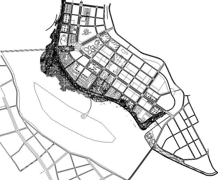 [四川]遂宁市河东新区五彩滨江景观带施工图设计(CAD)