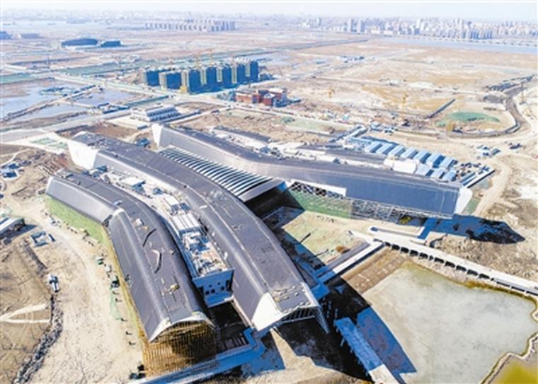 国家海洋博物馆建设工程主体结构全部封顶!