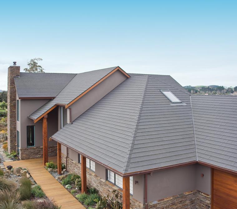 优质彩石金属瓦打造高端典雅建筑风格