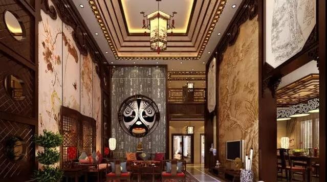 中式办公室装修的设计案例