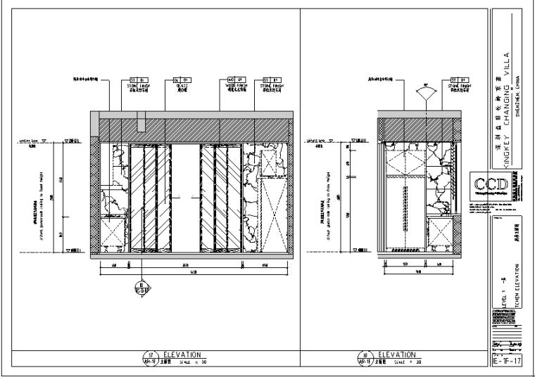 新中式京基别墅设计施工图(附效果图)