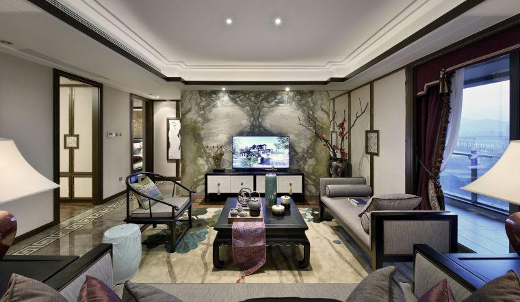 融林星海湾新中式样板房室内实景图