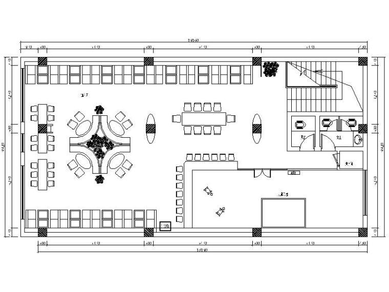 小清新快餐厅设计施工图(含效果图)