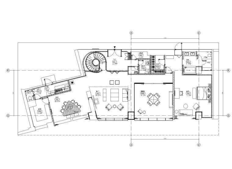 [北京]AB  Concept-北京通盈中心三里屯一号两居室样板间深化施工图CAD+设计方案