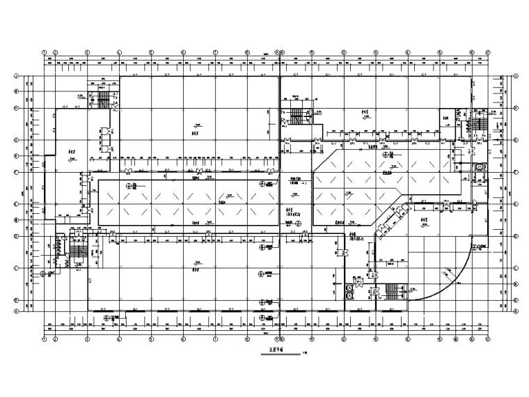 现代多层商业大厦建筑设计方案施工图CAD