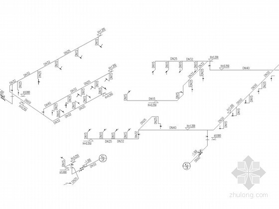 [山东]旅游景区大型水冲公厕水施工图(消防设计)