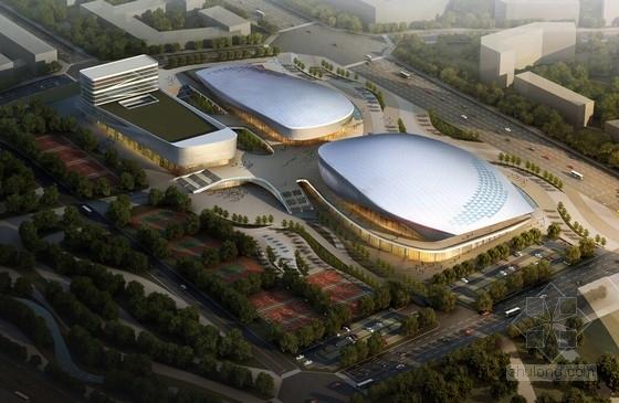 [四川]全民健身中心规划设计方案文本(含5500座体育馆及1000座  跳水馆)