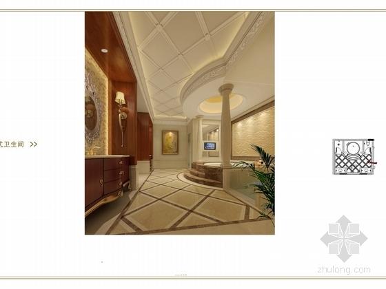 [苏州]奢华欧式风格商务会所七层客房区室内装修图(含效果) 卫生间效果
