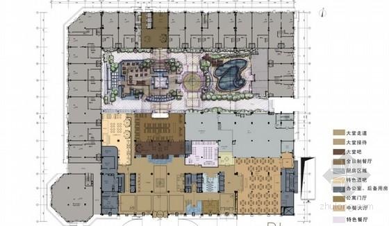 [青岛]高档温馨浪漫酒店设计方案含效果图