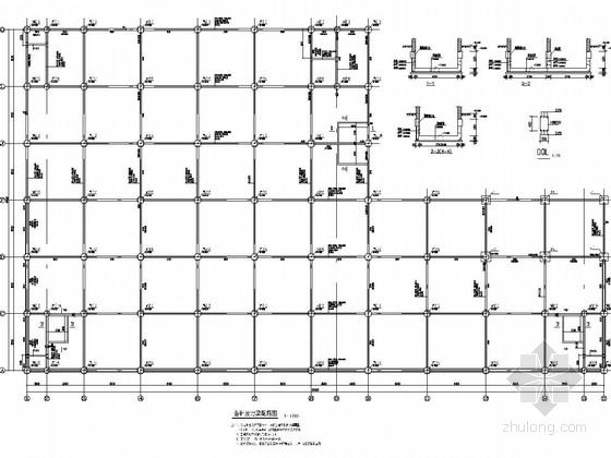 四层框架结构物流仓库结构施工图