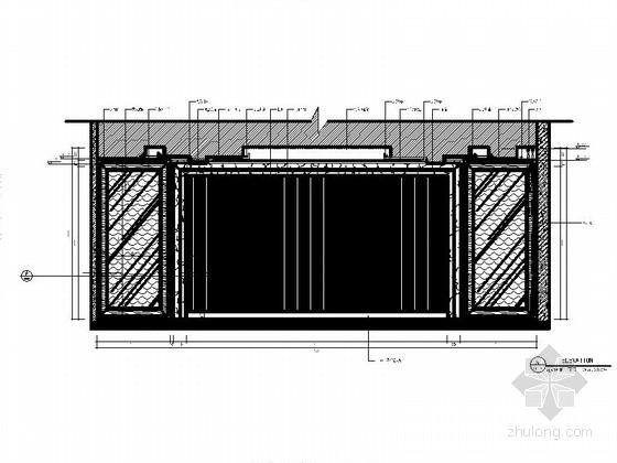 传统欧式餐厅豪华包房室内施工图立面图
