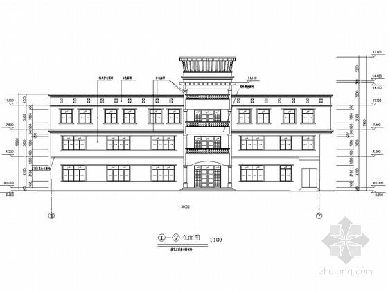 [深圳]四层框架结构垃圾填埋场综合办公楼结构施工图(含建筑图)