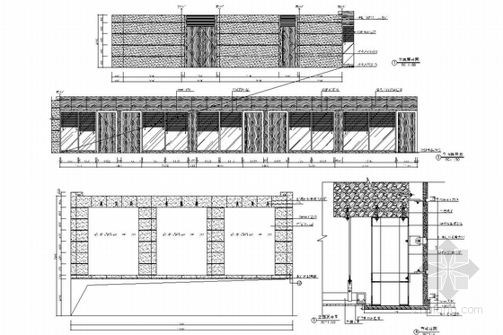 [南昌]大型房地产开发公司售楼处大厅装修图(含效果图) 立面图