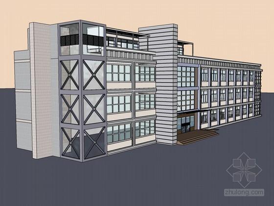 政府综合楼SketchUp模型下载