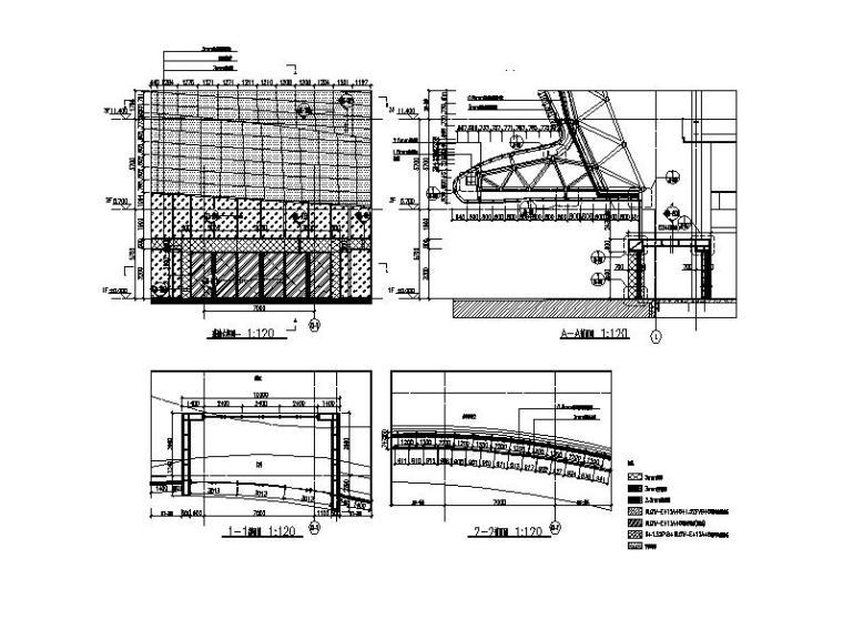 [安徽]四层弧线型文化中心钢结构玻璃幕墙施工图(16年最新)_10