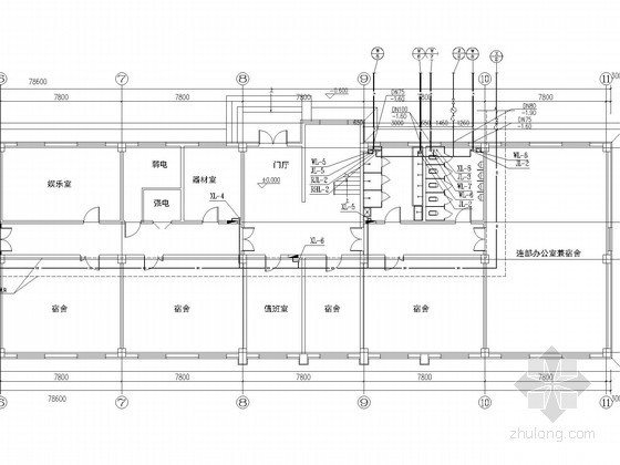 [辽宁]四层宿舍楼水暖施工图