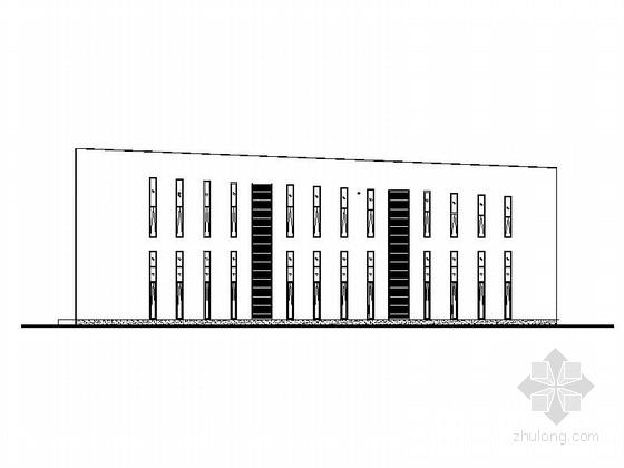 [深圳]两层坡屋顶业务楼建筑施工图(知名设计院)
