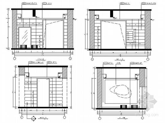 [原创]现代风格小学室内设计装修施工图(含高清效果 推荐!)东门厅立面图
