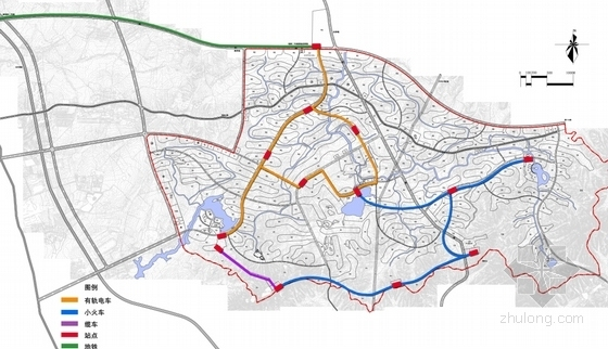 绿色生态旅游城规划分析图