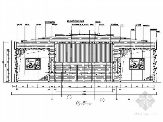 [广东]独创省级国家权力机关办公楼室内装修施工图(含实景)多功能厅立面图