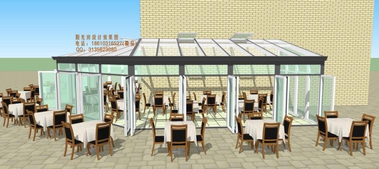 餐厅咖啡厅阳光房设计方案_5