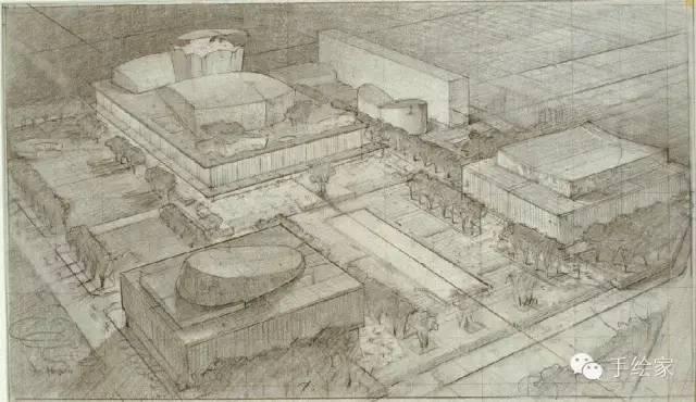 百年经典建筑设计手绘图_44