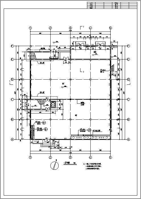 某大学综合食堂建筑设计施工图CAD-某大学综合食堂建筑设计平面图2