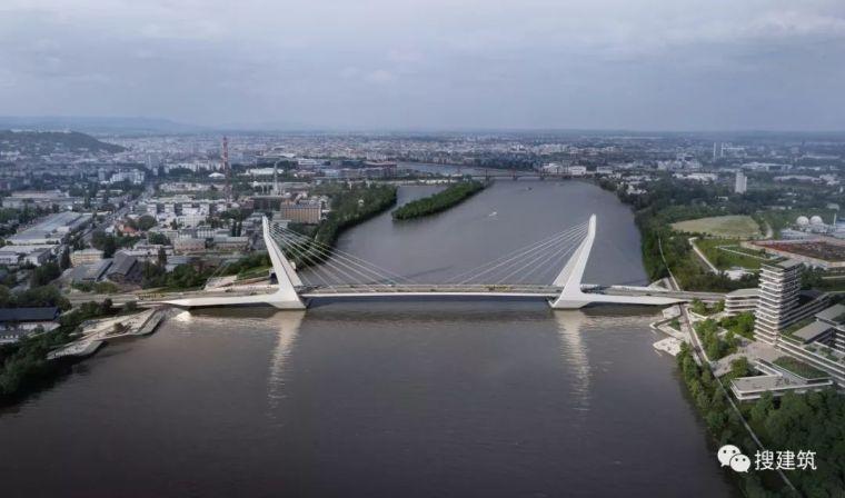 """17个方案中,一个1640英尺长的桥,""""打败""""扎哈等著名团队"""