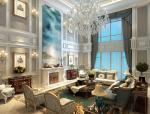 欧式清新客厅3D模型下载