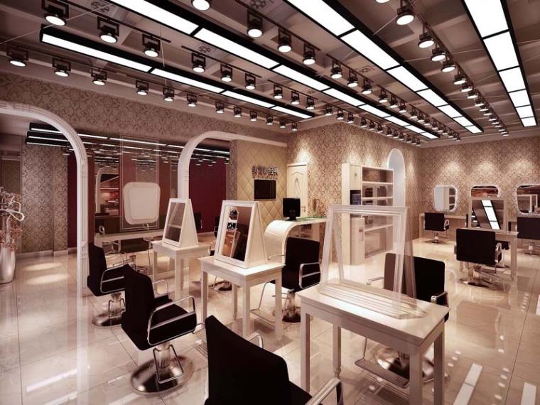时尚美容美发店3D模型下载