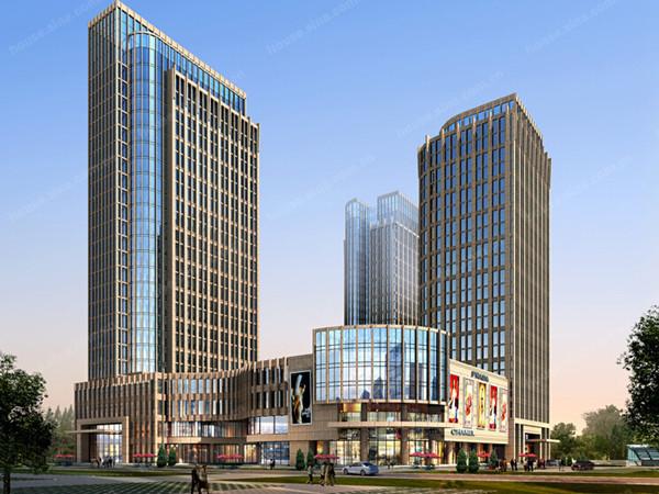 五星级酒店、高级写字楼、科研楼三塔带商业裙房全套结构施工图